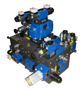 control manifold for press of metallurgic sector